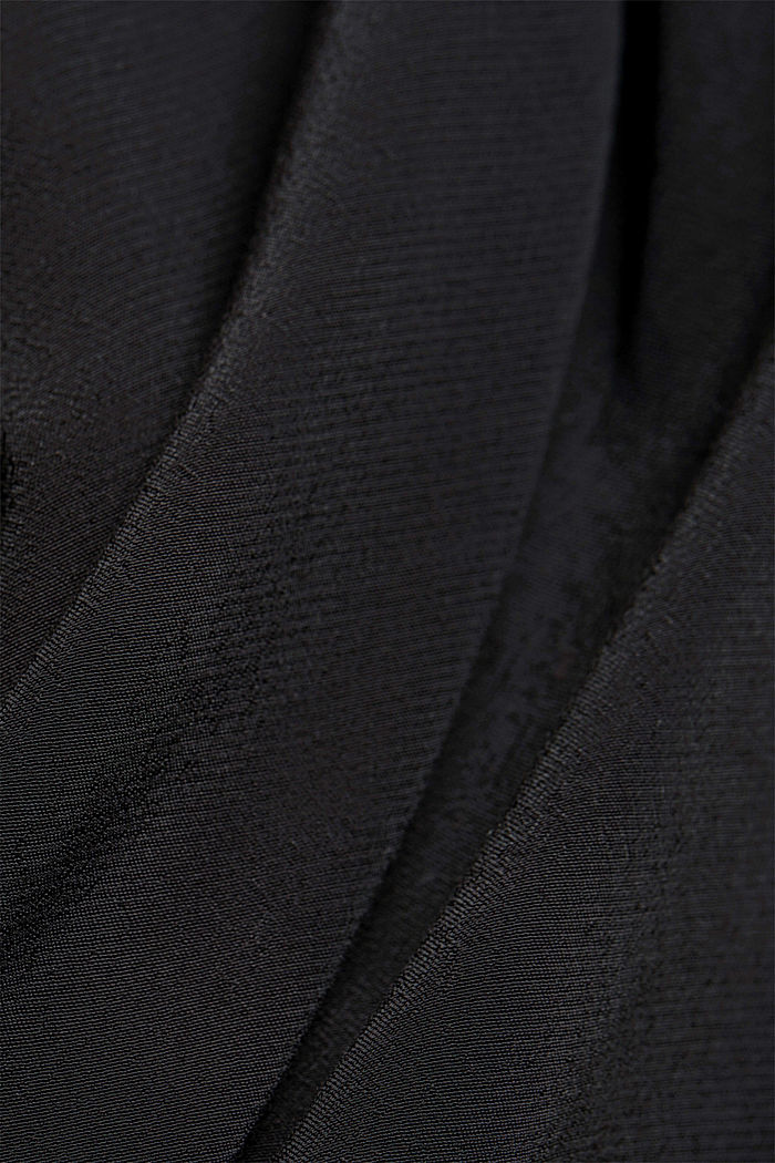 Blouse made from LENZING™ ECOVERO™, BLACK, detail image number 4