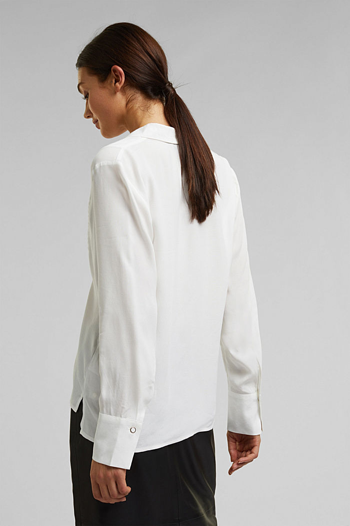 Blouse made from LENZING™ ECOVERO™, OFF WHITE, detail image number 3