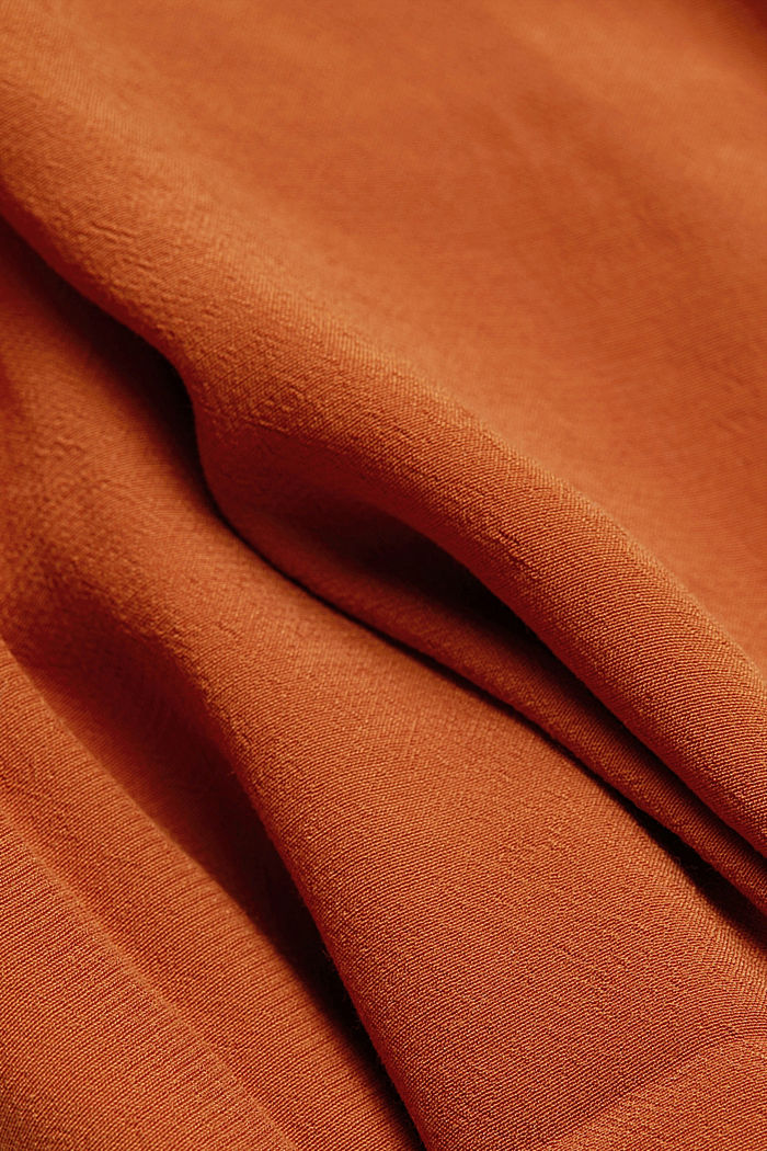 Blouse made from LENZING™ ECOVERO™, RUST BROWN, detail image number 4