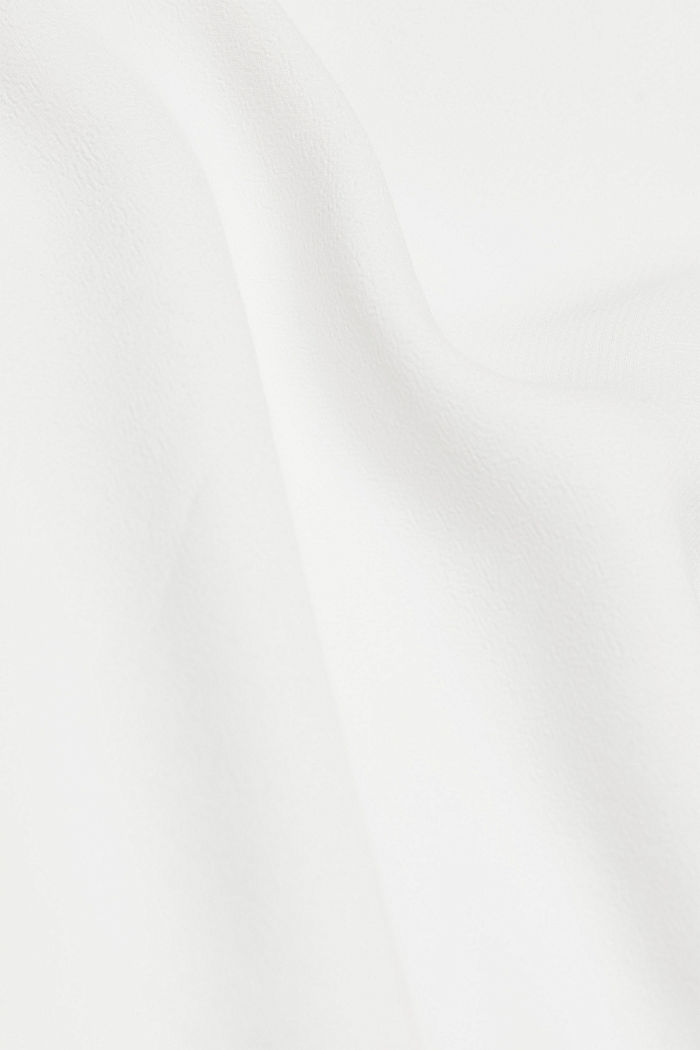 Blouse with a cup neckline, LENZING™ ECOVERO™, OFF WHITE, detail image number 3