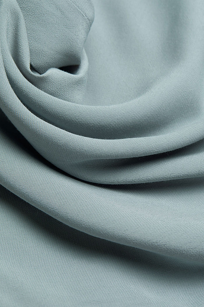 Blouse with a cup neckline, LENZING™ ECOVERO™, GREY BLUE, detail image number 4