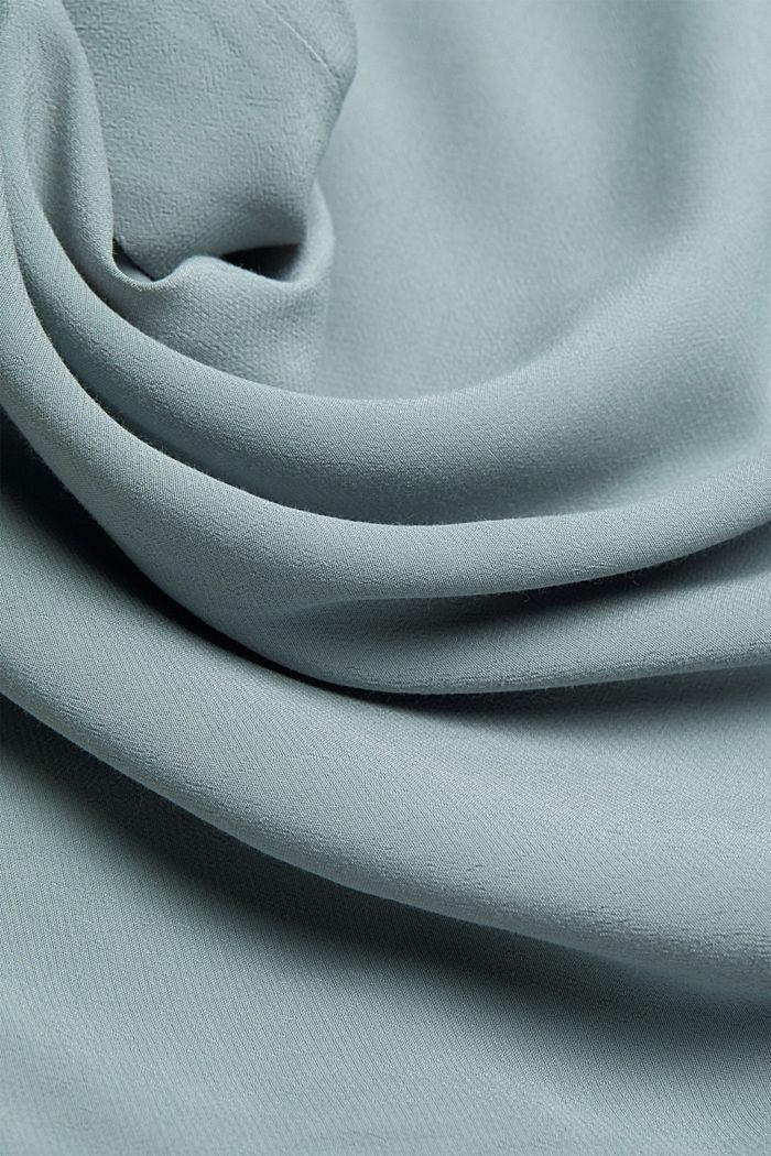 Blouse met kelkvormige hals, LENZING™ ECOVERO™, GREY BLUE, detail image number 4