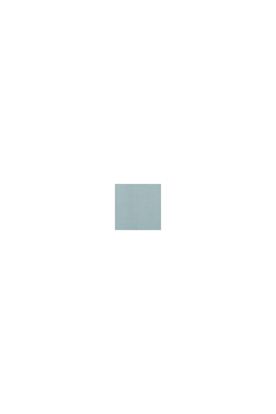 Bluse mit Kelch-Ausschnitt, LENZING™ ECOVERO™, GREY BLUE, swatch