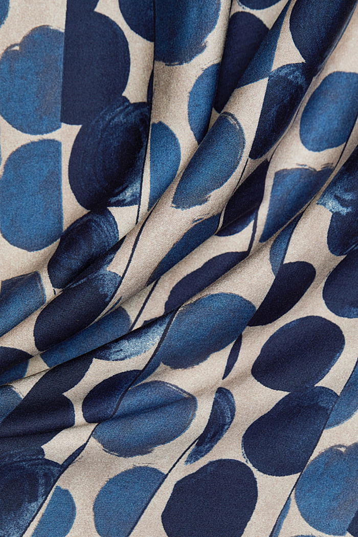 Flowing viscose with LENZING™ ECOVERO™, BRIGHT BLUE, detail image number 4