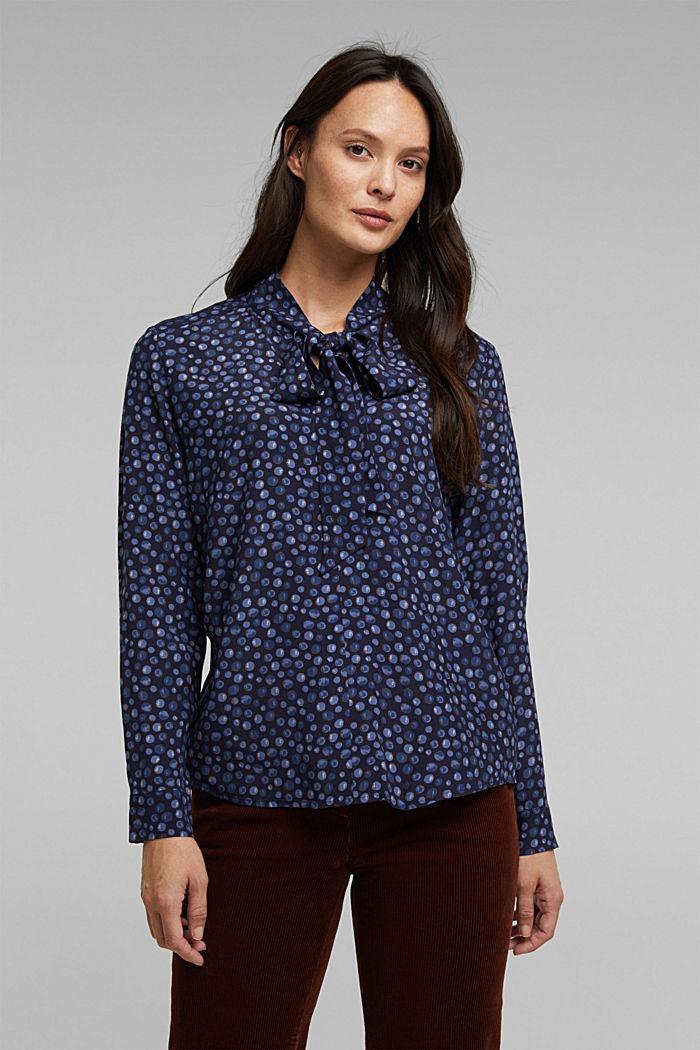 Bluse aus aus LENZING™ ECOVERO™, NAVY, detail image number 0