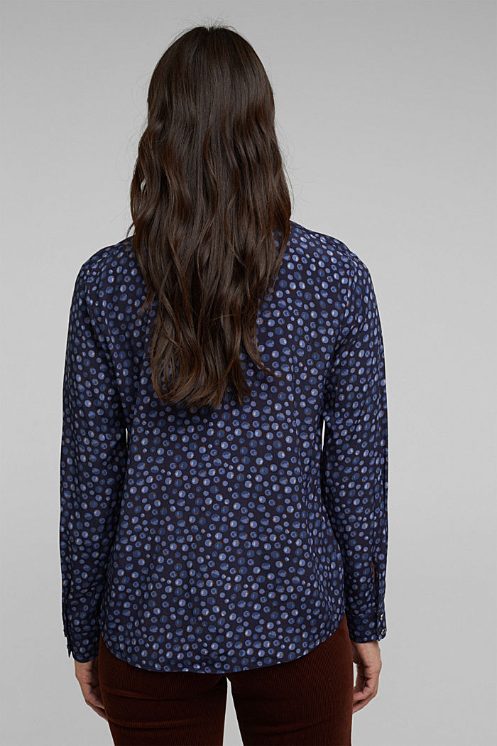 Bluse aus aus LENZING™ ECOVERO™, NAVY, detail image number 3