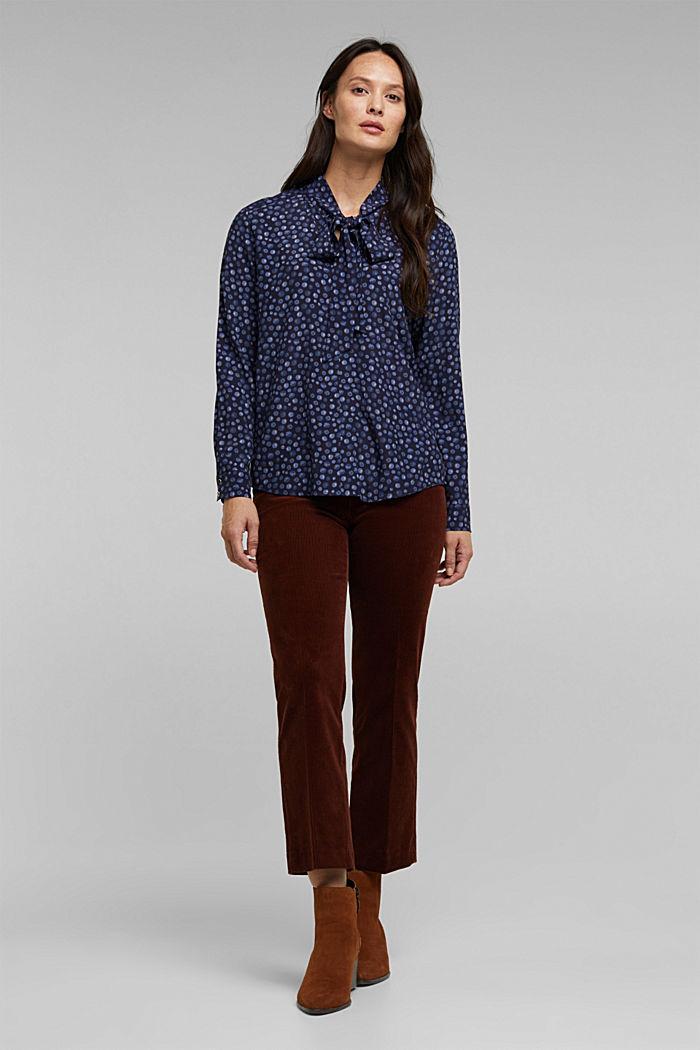 Bluse aus aus LENZING™ ECOVERO™, NAVY, detail image number 5