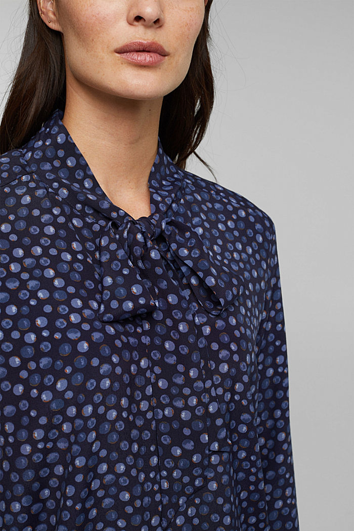 Blouse made of LENZING™ ECOVERO™, NAVY, detail image number 2