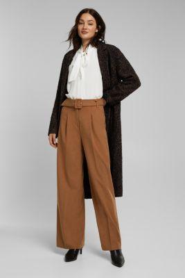 Crêpe pussycat bow blouse, OFF WHITE, detail