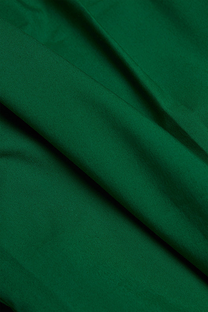 Poplin blouse with balloon sleeves, DARK TEAL GREEN, detail image number 4