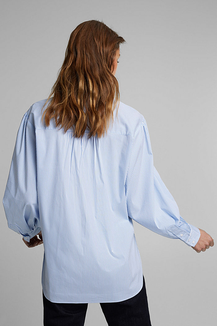 Statement blouse with balloon sleeves, LIGHT BLUE, detail image number 3