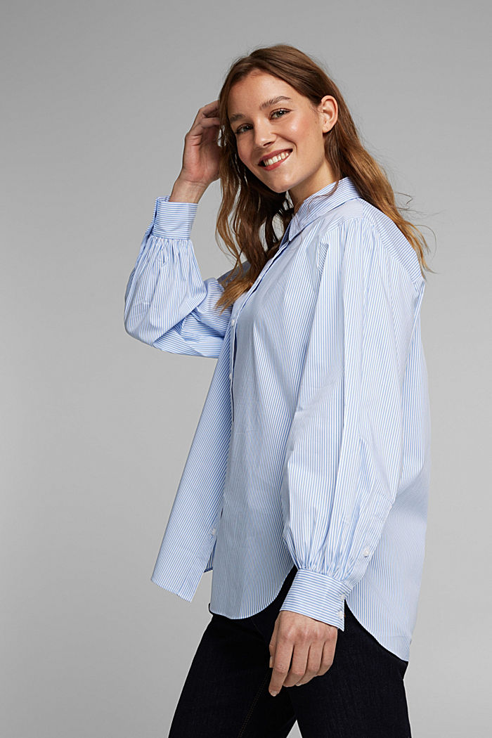 Statement blouse with balloon sleeves, LIGHT BLUE, detail image number 5