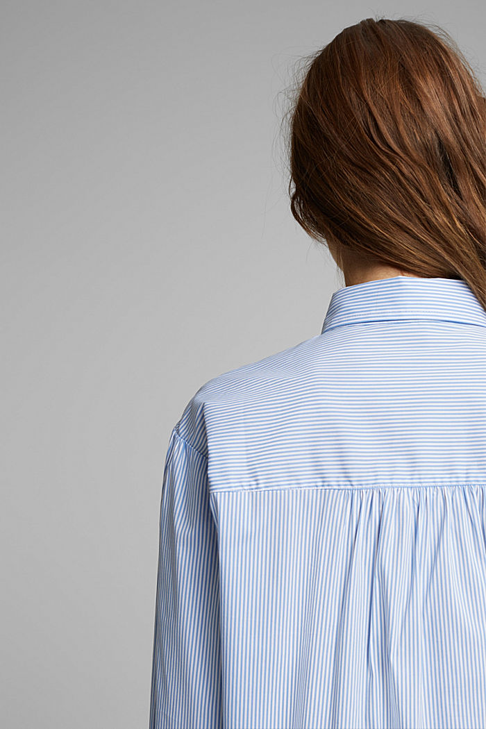 Statement blouse with balloon sleeves, LIGHT BLUE, detail image number 6