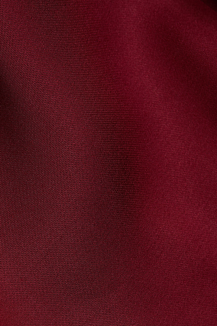 Satin top with LENZING™ ECOVERO™, BORDEAUX RED, detail image number 4
