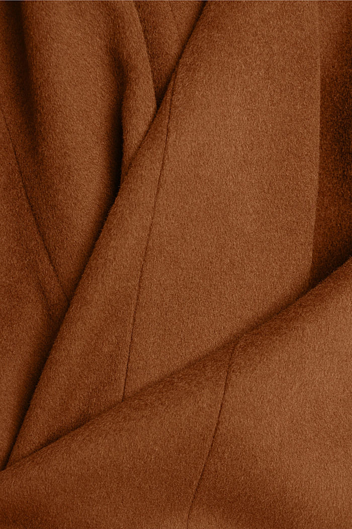 Con cachemire: cappotto in misto lana, RUST BROWN, detail image number 4