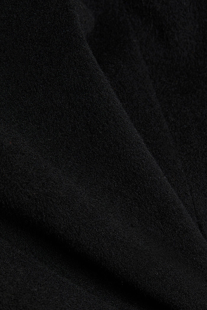 With cashmere: Coat made of blended wool, BLACK, detail image number 4