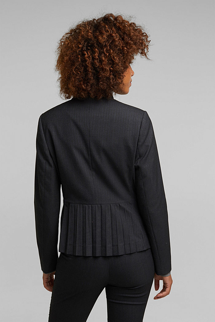 Recycled: PINSTRIPE MIX + MATCH blazer, ANTHRACITE, detail image number 2