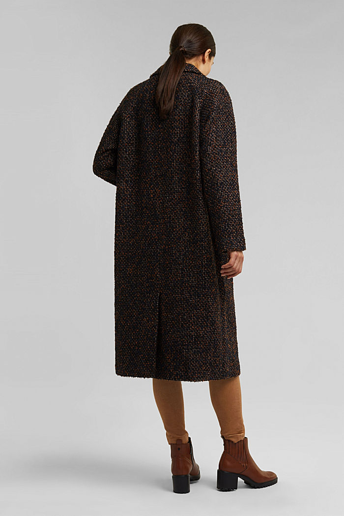 Wool blend: bouclé coat, TAUPE, detail image number 3