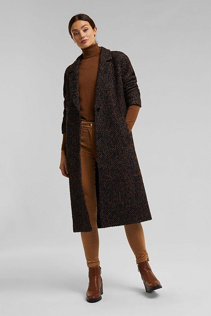 Wool blend: bouclé coat