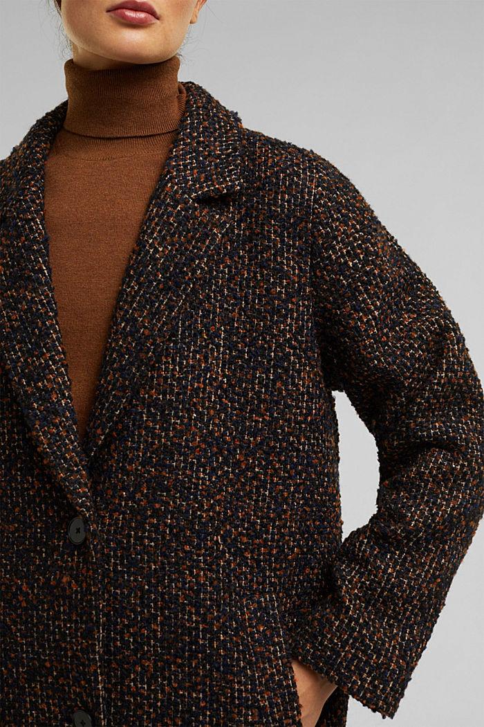Wool blend: bouclé coat, TAUPE, detail image number 2