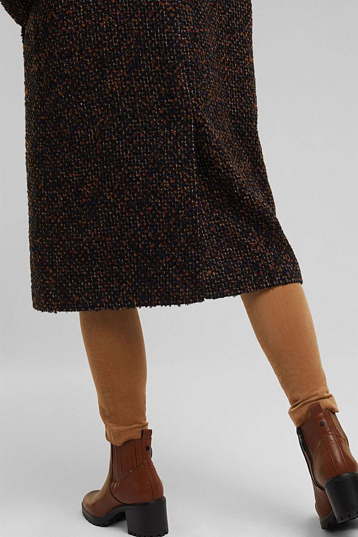 Wool blend: bouclé coat, TAUPE, detail image number 5