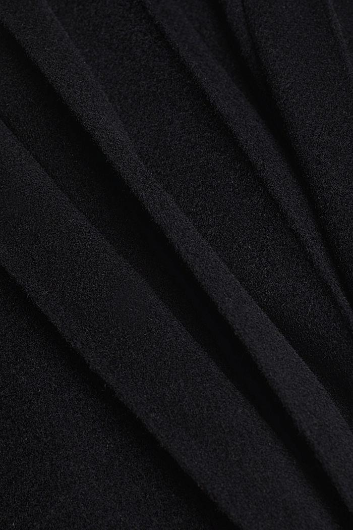 Gerecycled: mantel van een wolmix, BLACK, detail image number 4