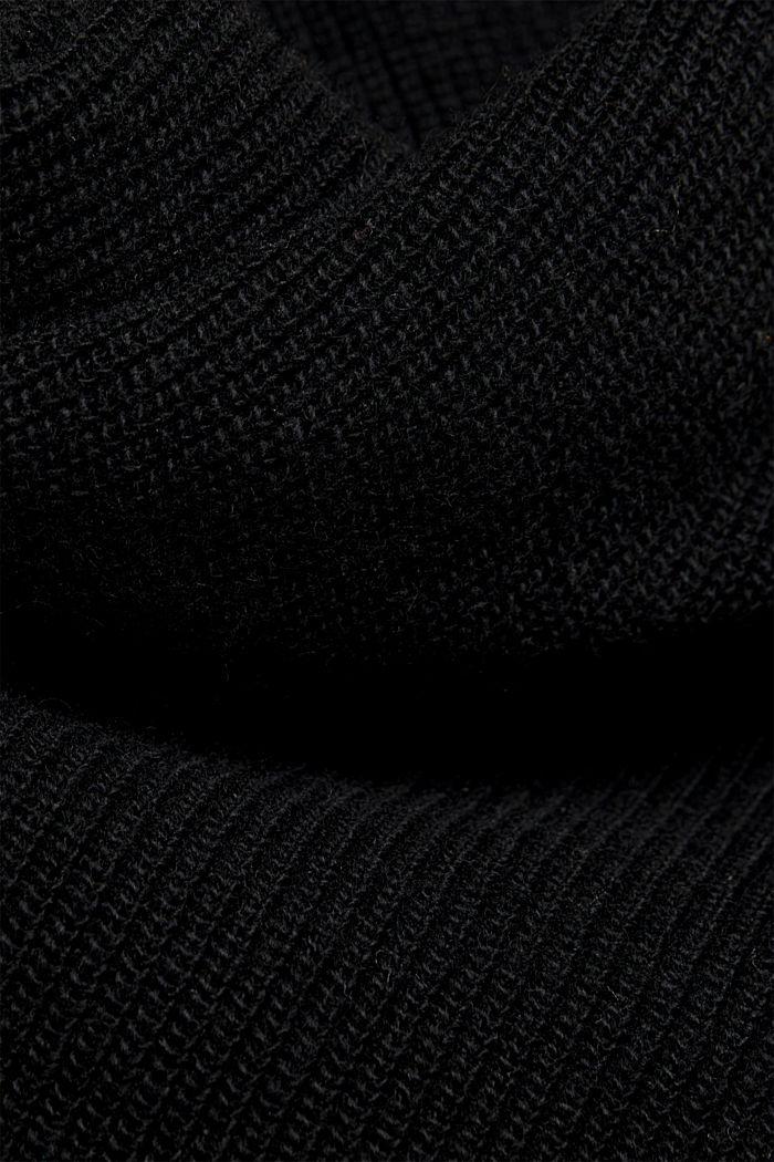 With cashmere: fine knit jumper, BLACK, detail image number 4