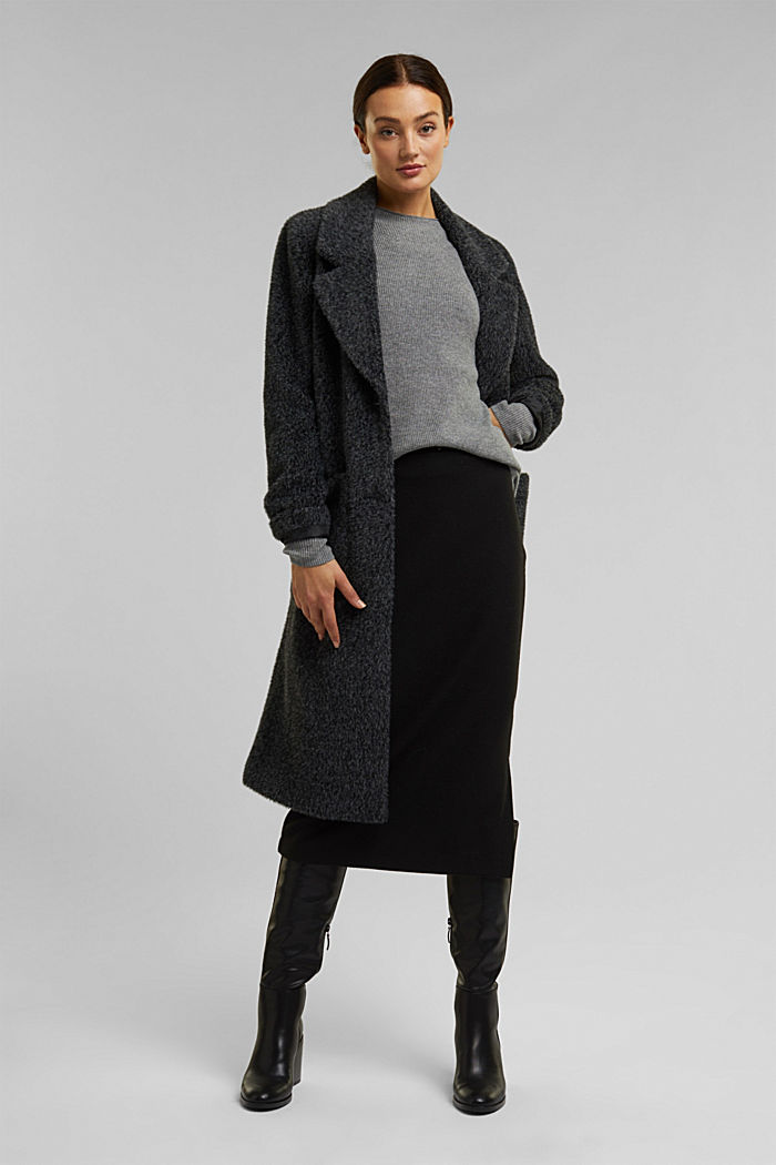 With cashmere: fine knit jumper, GUNMETAL, detail image number 5