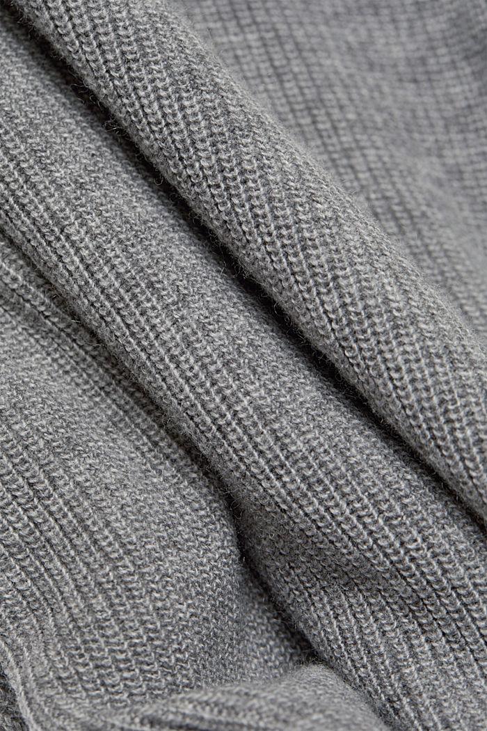 With cashmere: fine knit jumper, GUNMETAL, detail image number 4