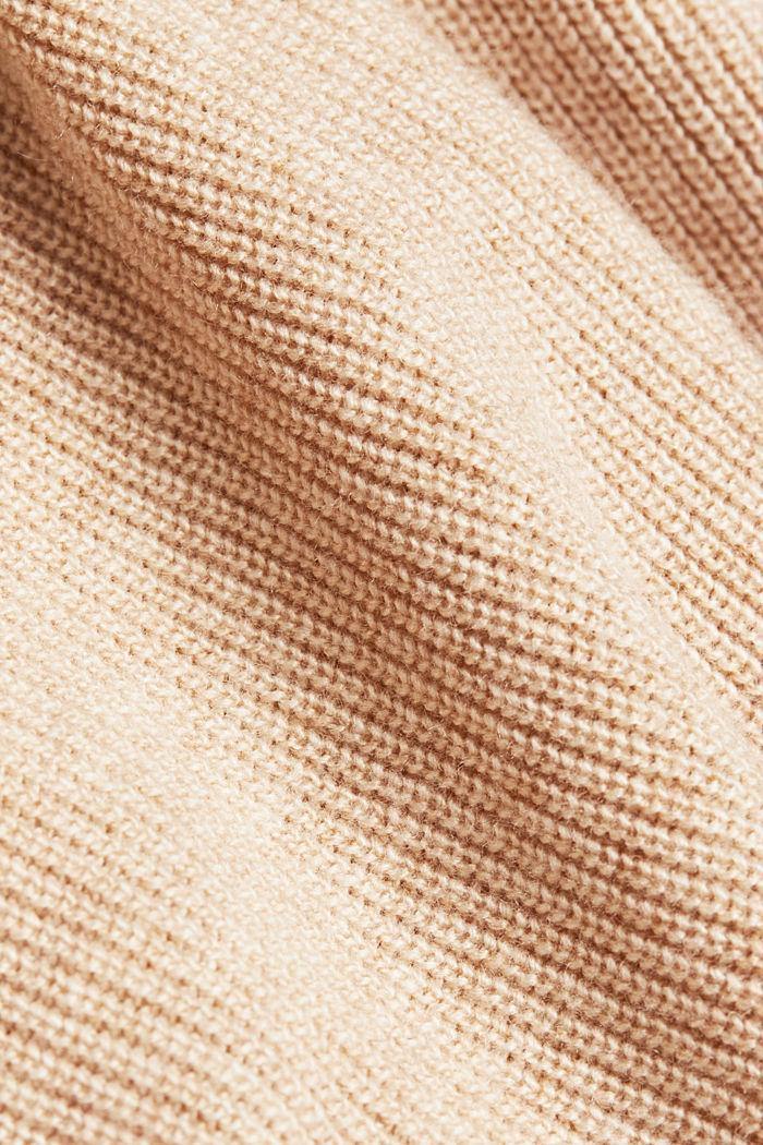 With cashmere: fine knit jumper, BEIGE, detail image number 4