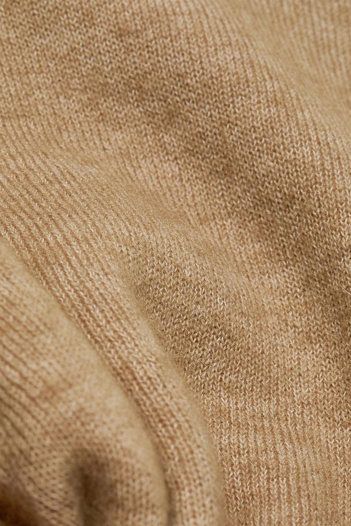 Met wol: vest met ceintuur, SAND, detail image number 4