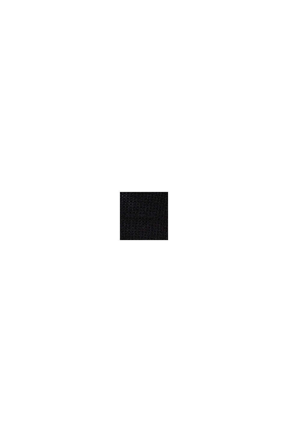 Sisältää villaa ja alpakkaa: pintakuvioitu neulepusero, BLACK, swatch