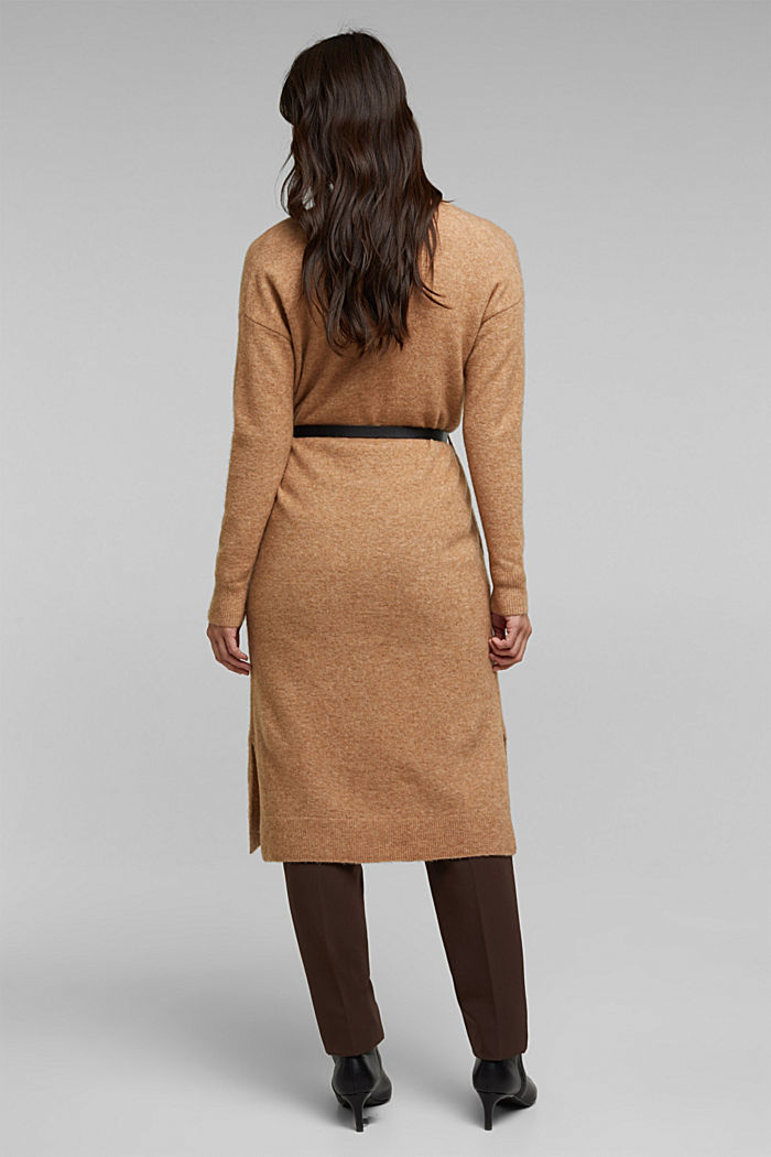 Met wol en lama: vest met ceintuur, BEIGE, detail image number 3
