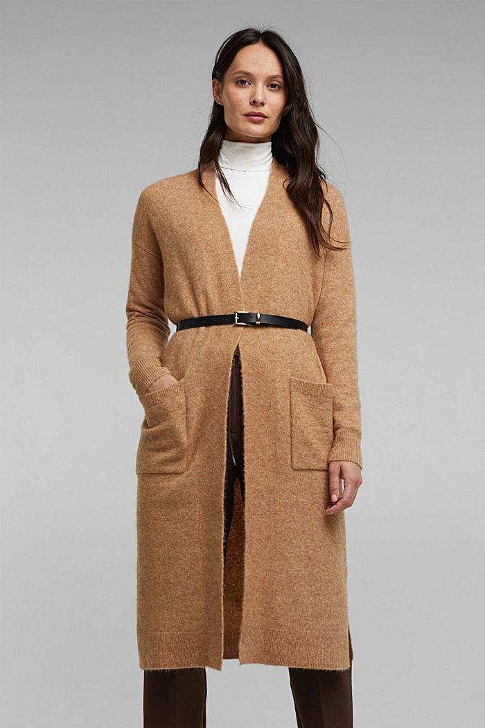 Met wol en lama: vest met ceintuur, BEIGE, detail image number 6