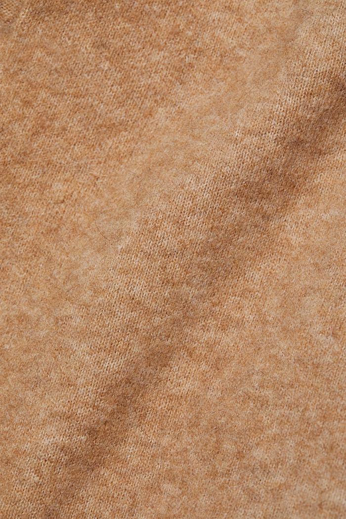 Met wol en lama: vest met ceintuur, BEIGE, detail image number 4