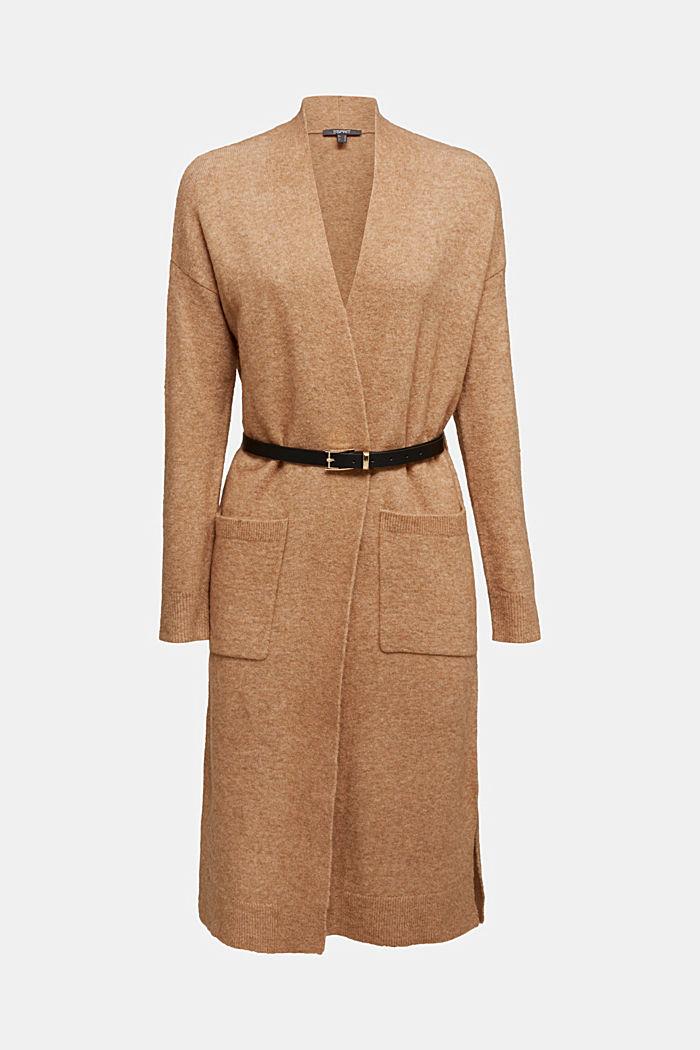 Met wol en lama: vest met ceintuur, BEIGE, detail image number 7