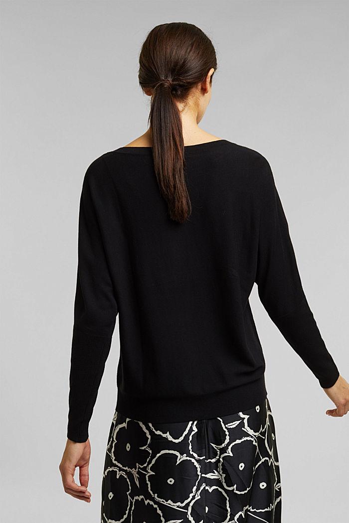Fine jumper with LENZING™ ECOVERO™, BLACK, detail image number 2