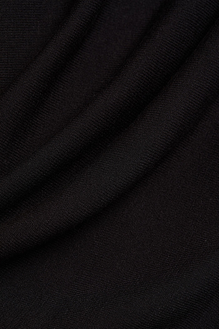 Fine jumper with LENZING™ ECOVERO™, BLACK, detail image number 3