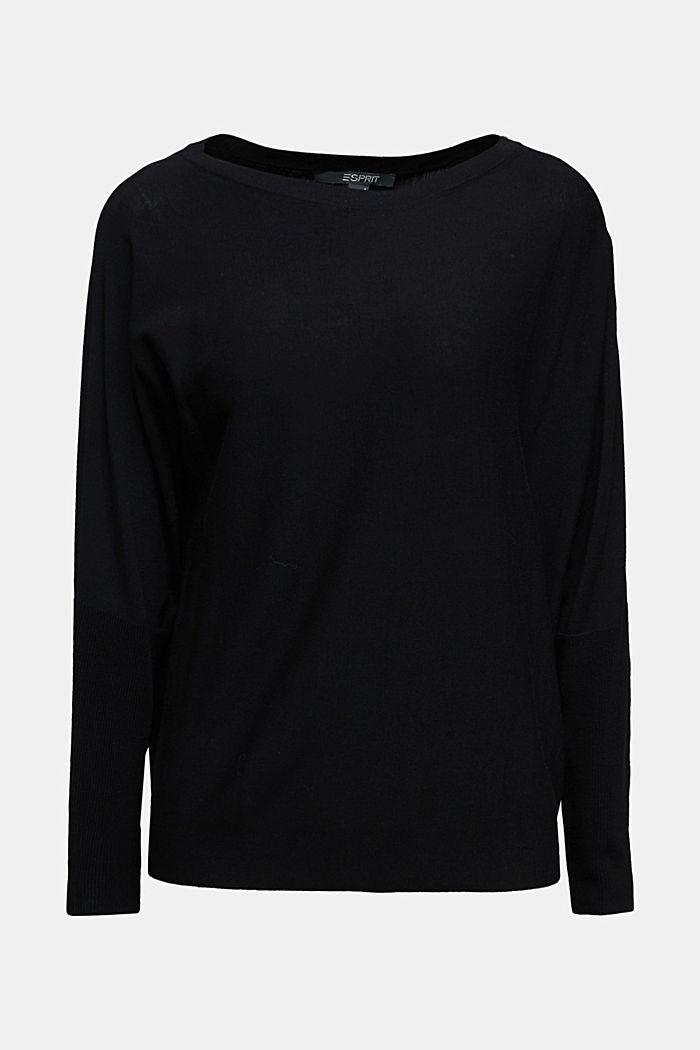 Fine jumper with LENZING™ ECOVERO™, BLACK, detail image number 6