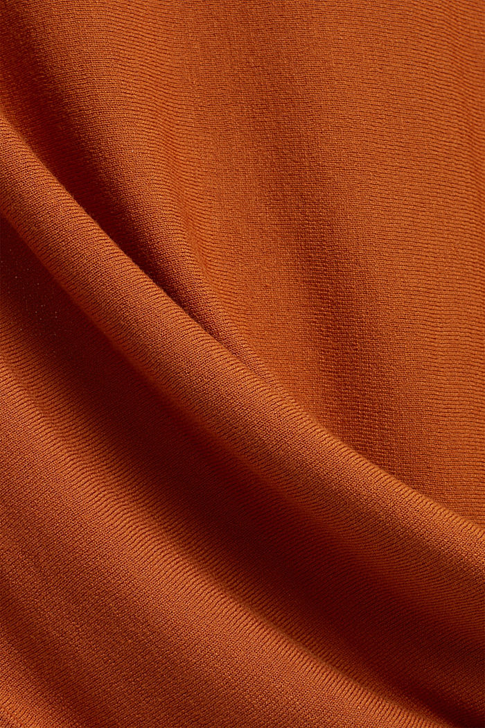 Fine jumper with LENZING™ ECOVERO™, RUST BROWN, detail image number 4