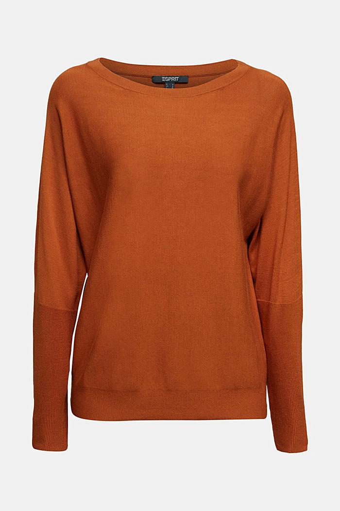 Fine jumper with LENZING™ ECOVERO™, RUST BROWN, detail image number 6