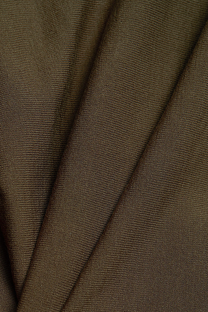 Fine jumper with LENZING™ ECOVERO™, KHAKI GREEN, detail image number 4