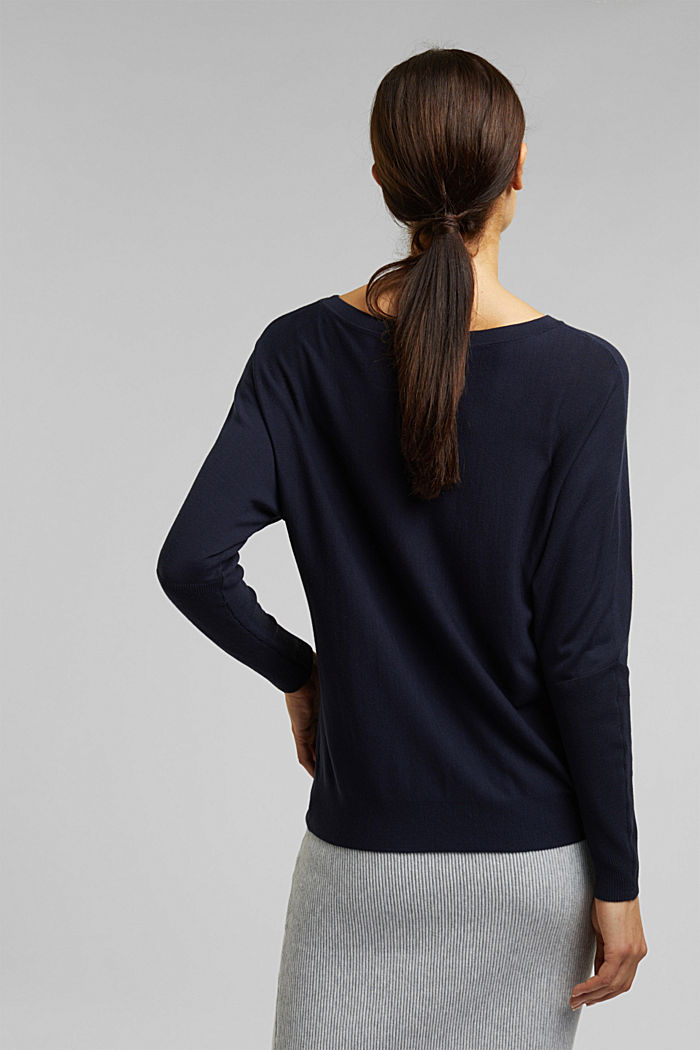 Fine jumper with LENZING™ ECOVERO™, NAVY, detail image number 3