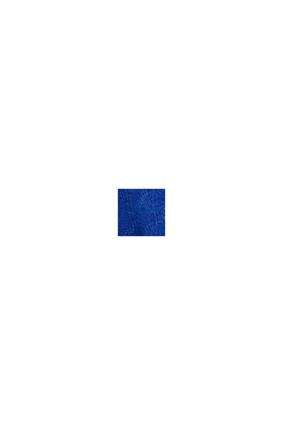 À teneur en laine et alpaga: pull-over ajouré, BRIGHT BLUE, swatch