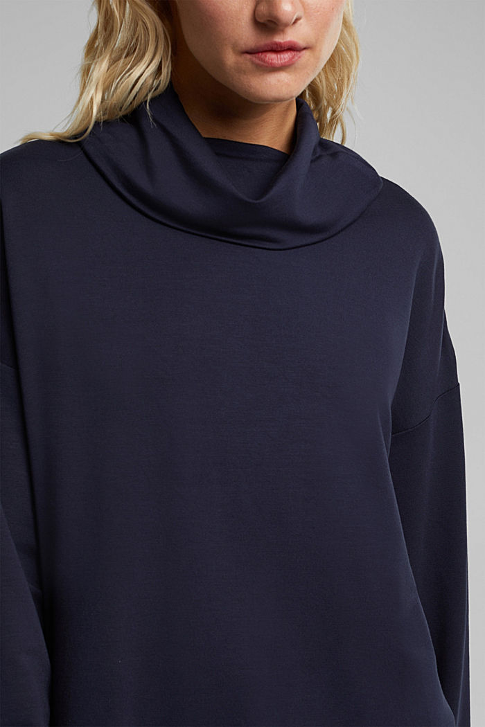 Made of TENCEL™/modal: jersey sweatshirt, NAVY, detail image number 2