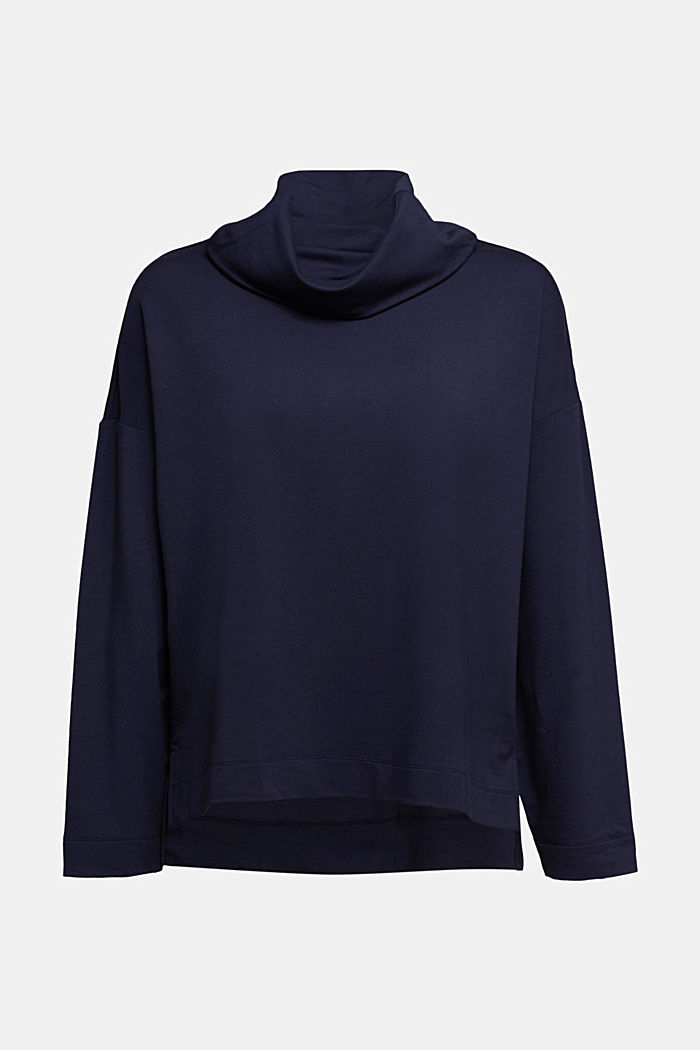 Made of TENCEL™/modal: jersey sweatshirt, NAVY, detail image number 6