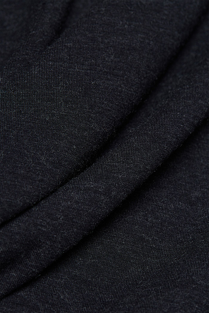 Wool blend: long sleeve top with LENZING™ ECOVERO™, NAVY, detail image number 3