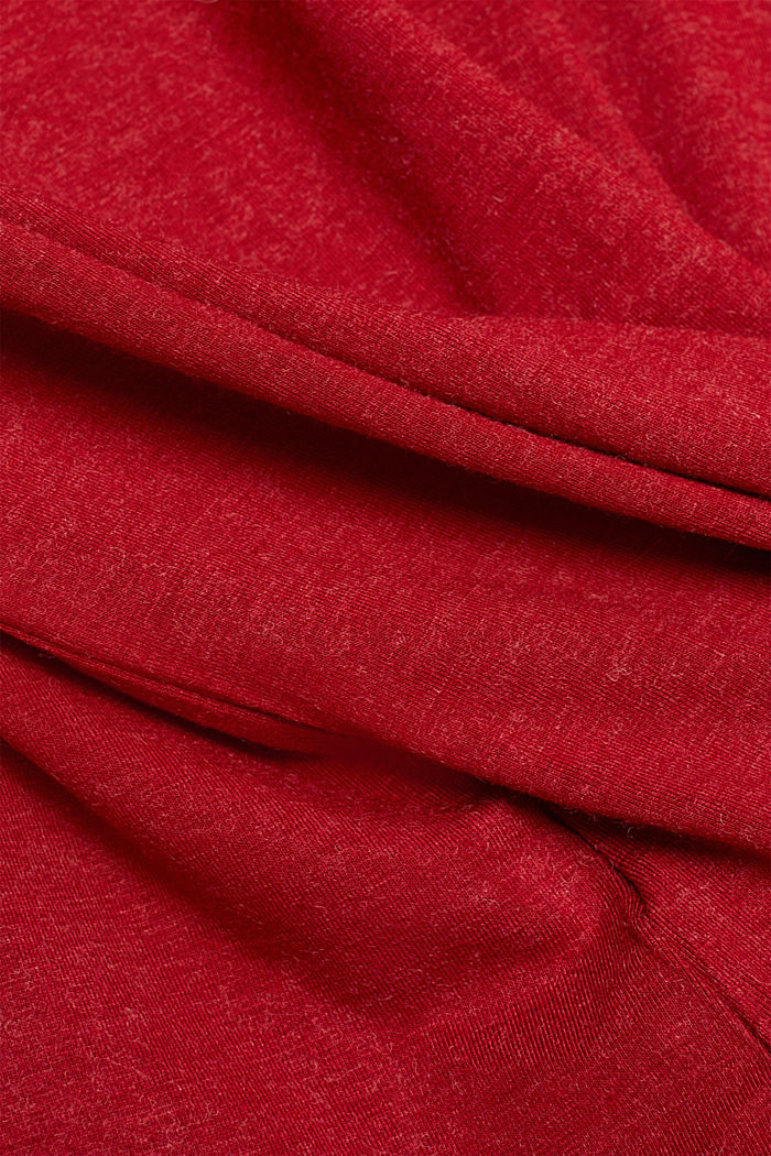 Wool blend: long sleeve top with LENZING™ ECOVERO™, DARK RED, detail image number 4
