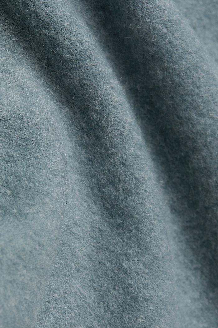 Turtleneck T-shirt made of brushed jersey, GREY BLUE, detail image number 4