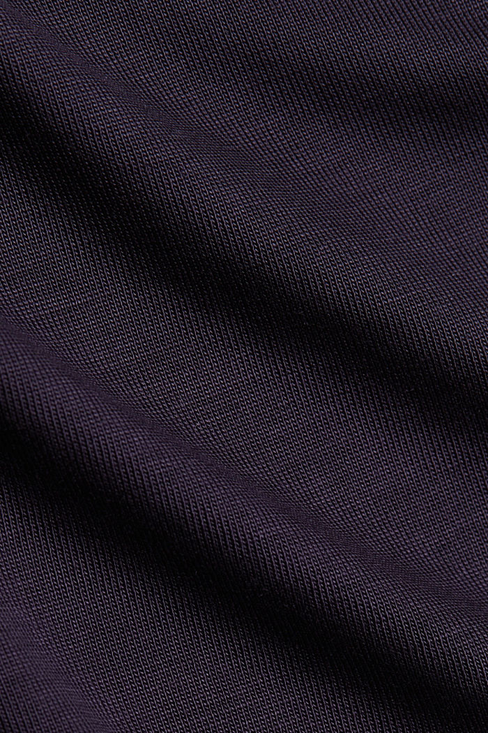 Long sleeve top made of 100% lyocell, NAVY, detail image number 4